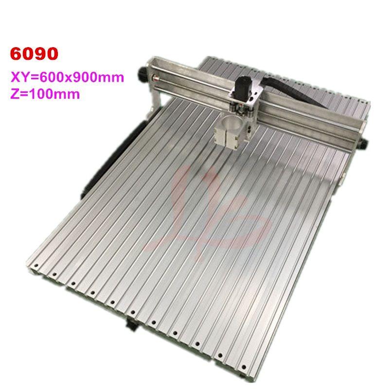Cnc maschine 6090 aluminium rahmen holz router arbeiten bereich 600x900x 100mm fräsen stecher