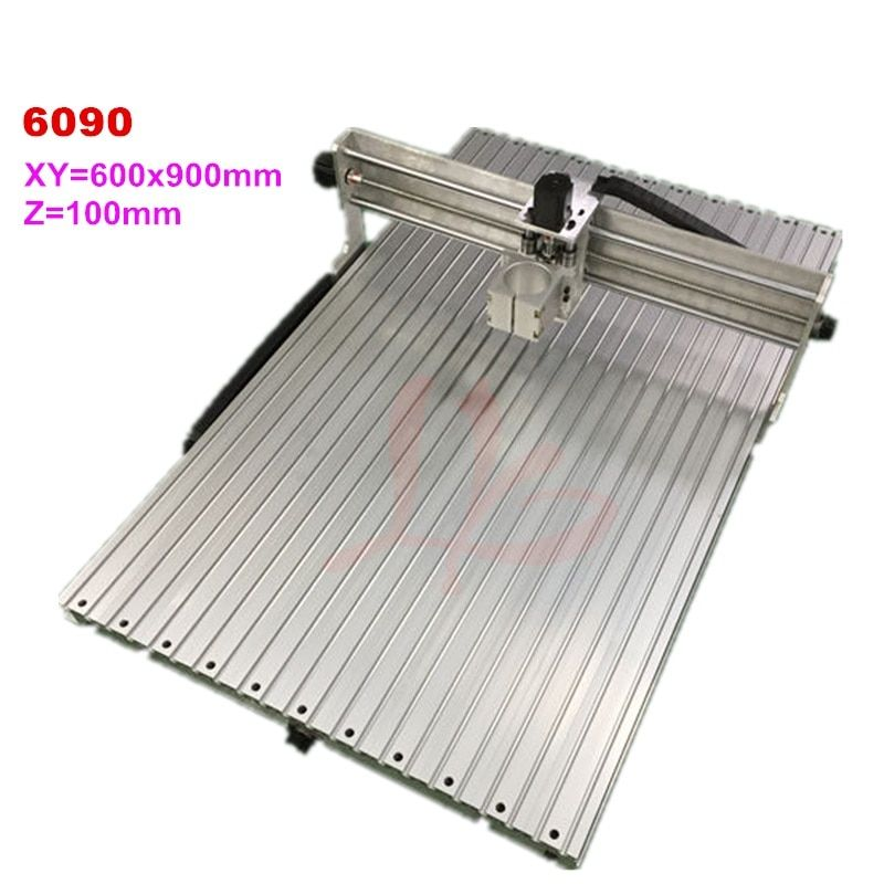 cnc machine 6090 aluminum frame wood router work area 600x900x100mm milling engraver