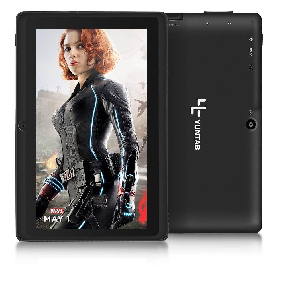 Yuntab Nouveau Pas Cher 7 pouce Q88 Allwinner A33 Quad Core Tablet PC Écran Capacitif Android 4.4 512 M 8 GB double caméra