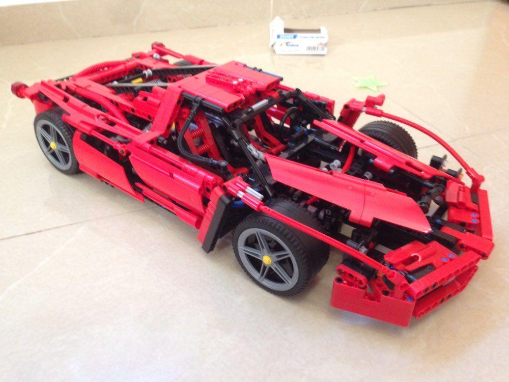1359 pièces nouvelle technique ENZO 1:10 Supercar voiture modèle bloc de Construction éducatif briques de Construction compatible avec bricolage