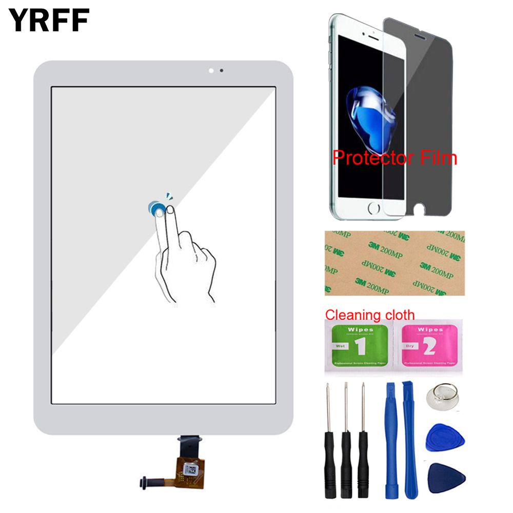 9.6'' Front For Huawei MediaPad T1 10 Pro LTE T1-A21L Tab Touch Screen Touch Digitizer Panel Glass Tools Protector Film Adhesive