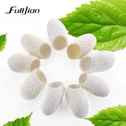 Fulljion 20pcs/pack Organic Natural silk cocoon Ball Facial Cleanser Anti Aging Whitening blackhead Remover Skin Care Silkworm