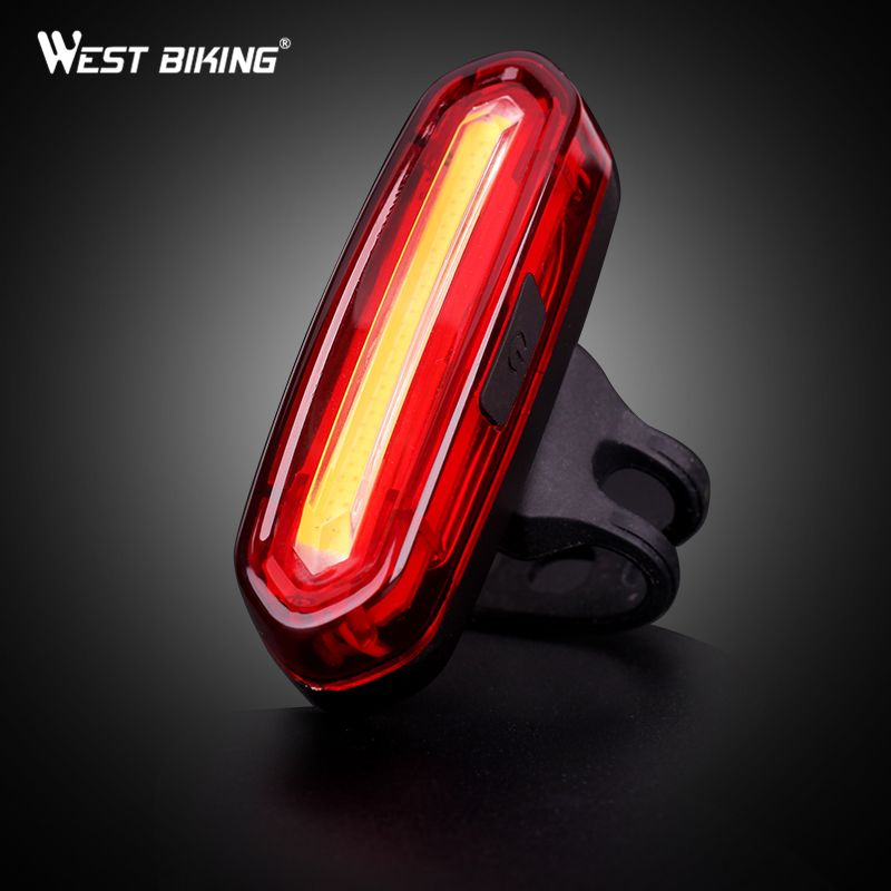 WEST BIKING USB Rechargeable Bike Lights Mountain Warning Light LED Super Bright Change Bicycle Cycling USB Charging Taillight