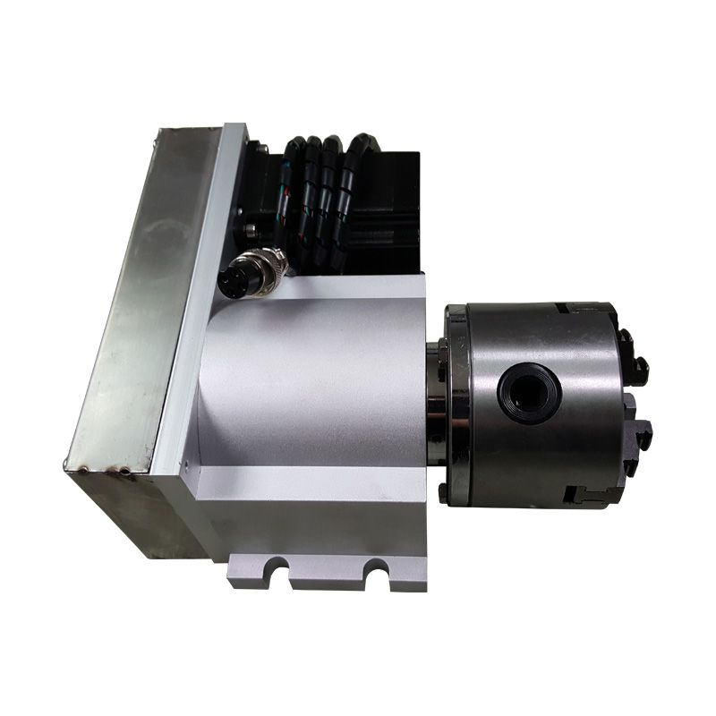CNC machine parts A Axis Rotary Axis tailstock 4th Axis with 80mm 3 Jaws Chuck