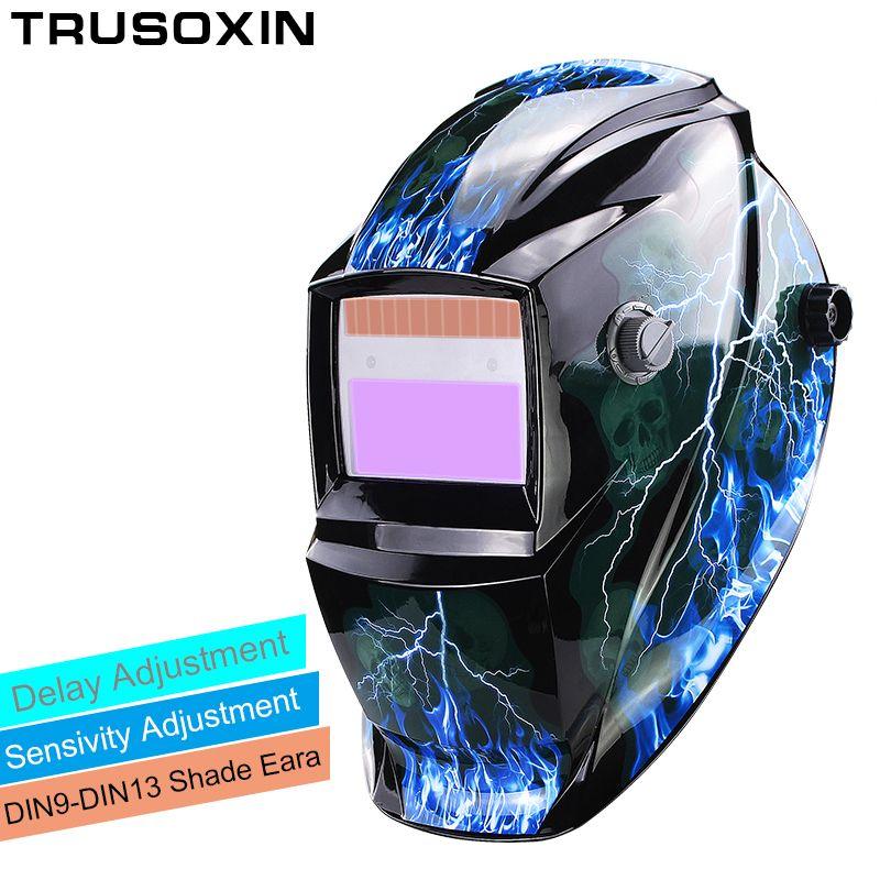 Li batterie/énergie solaire assombrissement automatique TIG MIG MMA MAG KR KC masque de soudage électrique/casques/capuchon de soudeur pour Machine à souder