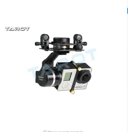 Tarot 3D III Metal 3-Axle  Brushless Gimbal TL3T01 Update from T4-3D for GOPRO GOPRO4 / 3+/ Gopro3 FPV Photography F17391
