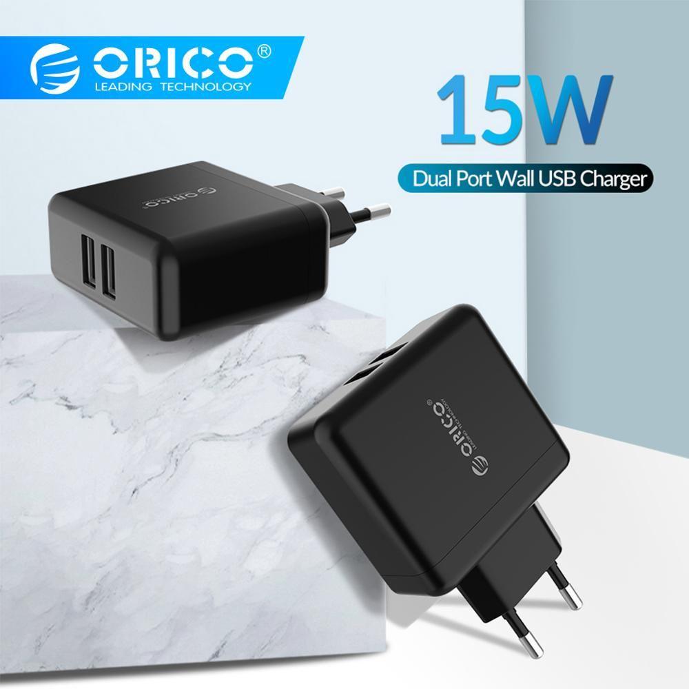 Chargeur USB mural ORICO chargeur de voyage USB Portable à chargement rapide avec 2 ports USB 5V2. 4A 15 W Max prise EU