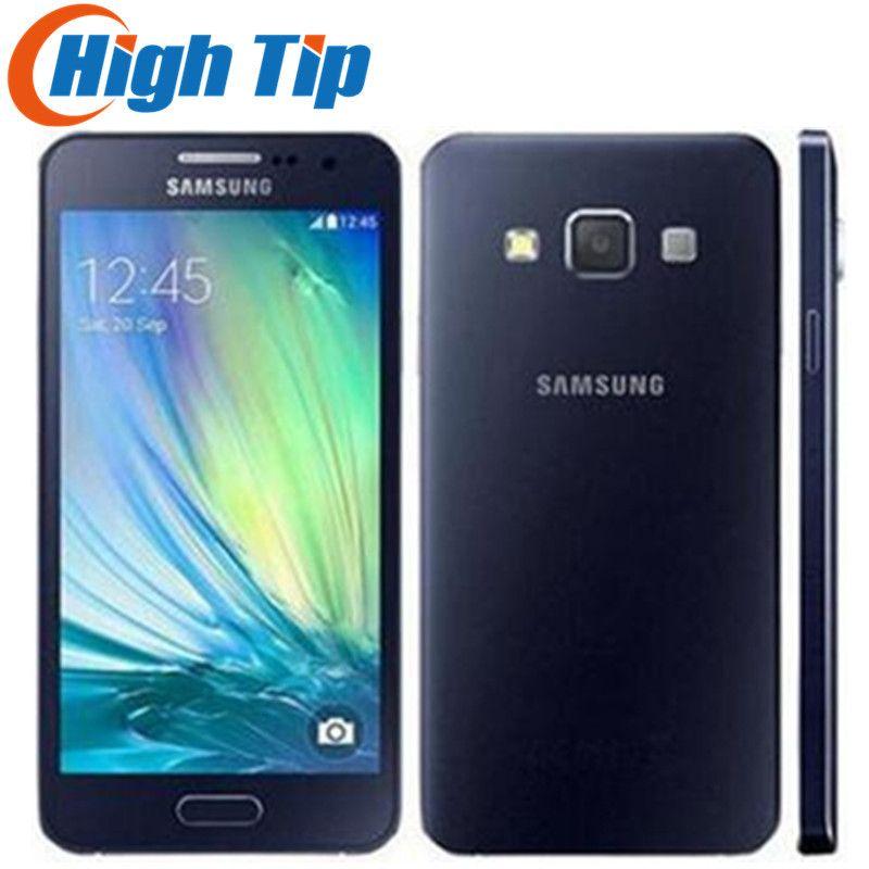 Débloqué Original Samsung Galaxy A3 A300F A3000 Quad-Core Android 4.5 Pouce 8 GB ROM 4G 8.0MP Caméra rénové Téléphone Mobile