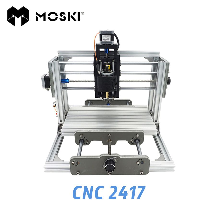 MOSKI ,2417 diy engraving machine, 3axis mini Pcb Pvc Milling, metal and wood Carving, grbl control