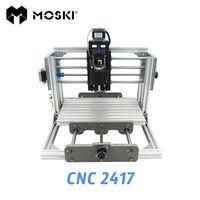 MOSKI, máquina de grabado 2417 diy, fresadora de Pvc mini Pcb de 3 ejes, tallado de metal y madera, control grbl