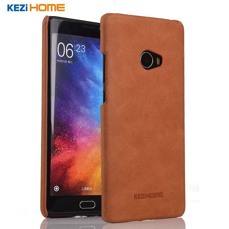Xiaomi mi note 2 cas KEZiHOME Givré Véritable En Cuir Dur Retour couverture capa Pour Xiaomi mi note2 Premier 5.7 ''Téléphone Protecteur cas