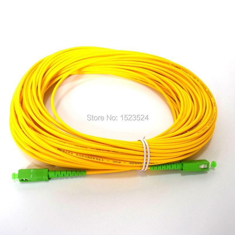 SM SX PVC 3mm 30 mètres SC/APC câble de raccordement à Fiber optique SC/APC-SC/APC cordon de raccordement à Fiber optique