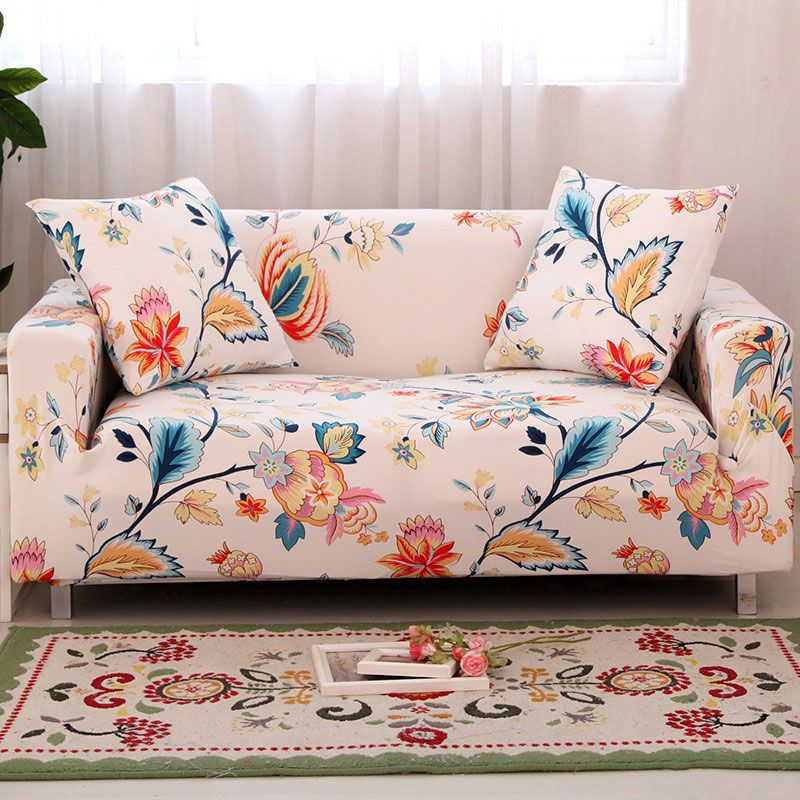 <font><b>Flower</b></font> Slipcover Sofa Cover Tightly All-inclusive Wrap single/double/three/four-Seat Sofa Cover Elasticity Sofa Cover 1pc