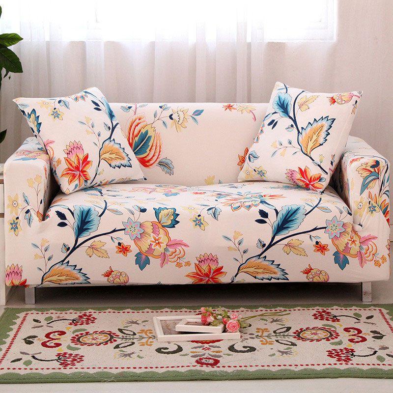 Housse de canapé à fleurs housse de canapé étanche tout compris simple/double/trois/quatre places housse de canapé élasticité housse de canapé 1 pc