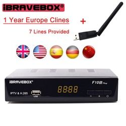iBRAVEBOX F10S PLUS 1 Year Europe C-line Server HD Support H.265 DVB-S/S2 Satellite Receiver Italy Spain Arabic With USB Wifi