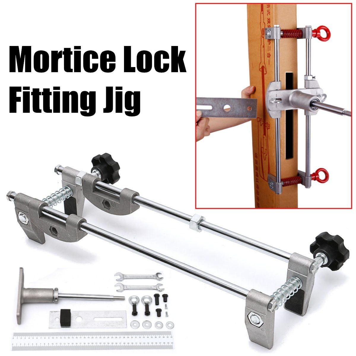 Professional Locksmith Woodworking Door Lock Mortiser Kit Hole Saw Opener Installation Mortising Jig Tool Maintenance Set