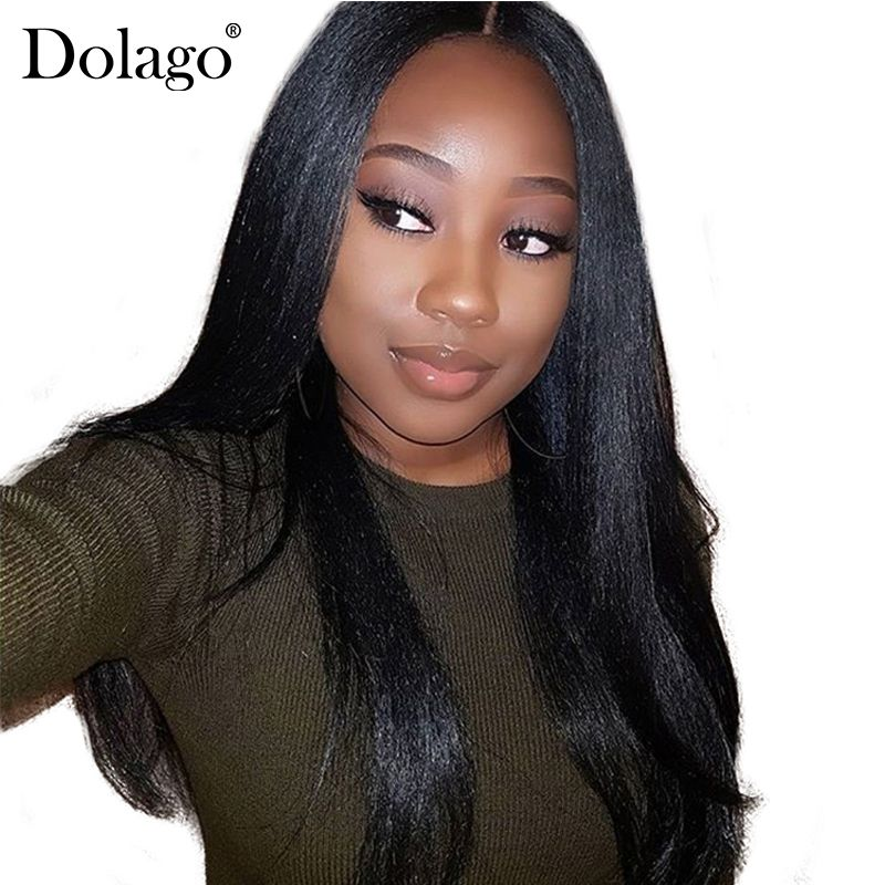 Yaki Human Hair Brazilian Hair Weave Bundles Light Yaki Straight Hair Extensions 1 Piece Dolago Virgin Human Hair Products