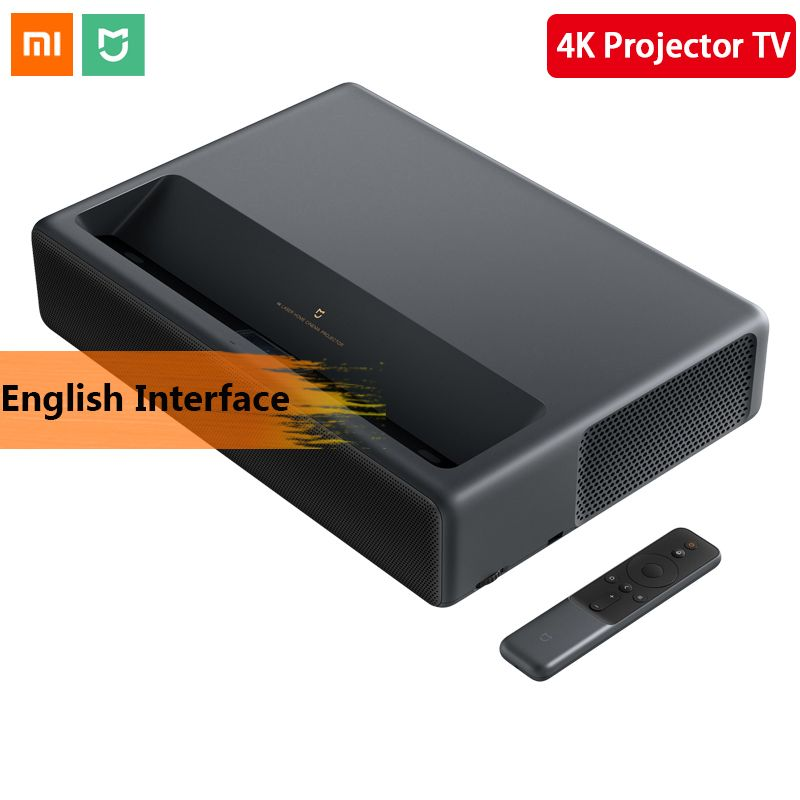 Original 2019 Xiaomi Mijia Laser Projektion TV 4 K Heimkino 200 Zoll Wifi 2G RAM 16G Englisch interface Unterstützung HDR DOLBY DTS