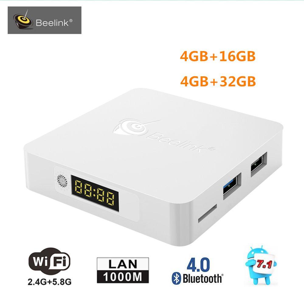 Original Beelink A1 TV Box Android 7.1 RK3328 4GB RAM 32GB ROM Set Top Box 2.4G/5.8G WiFi Bluetooth4.0 1000M LAN 4K Media Player