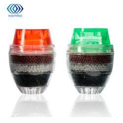 2 unids filtro de agua de carbono hogar cocina mini grifo agua del grifo purificador de filtro Filtro de filtración 21-23mm