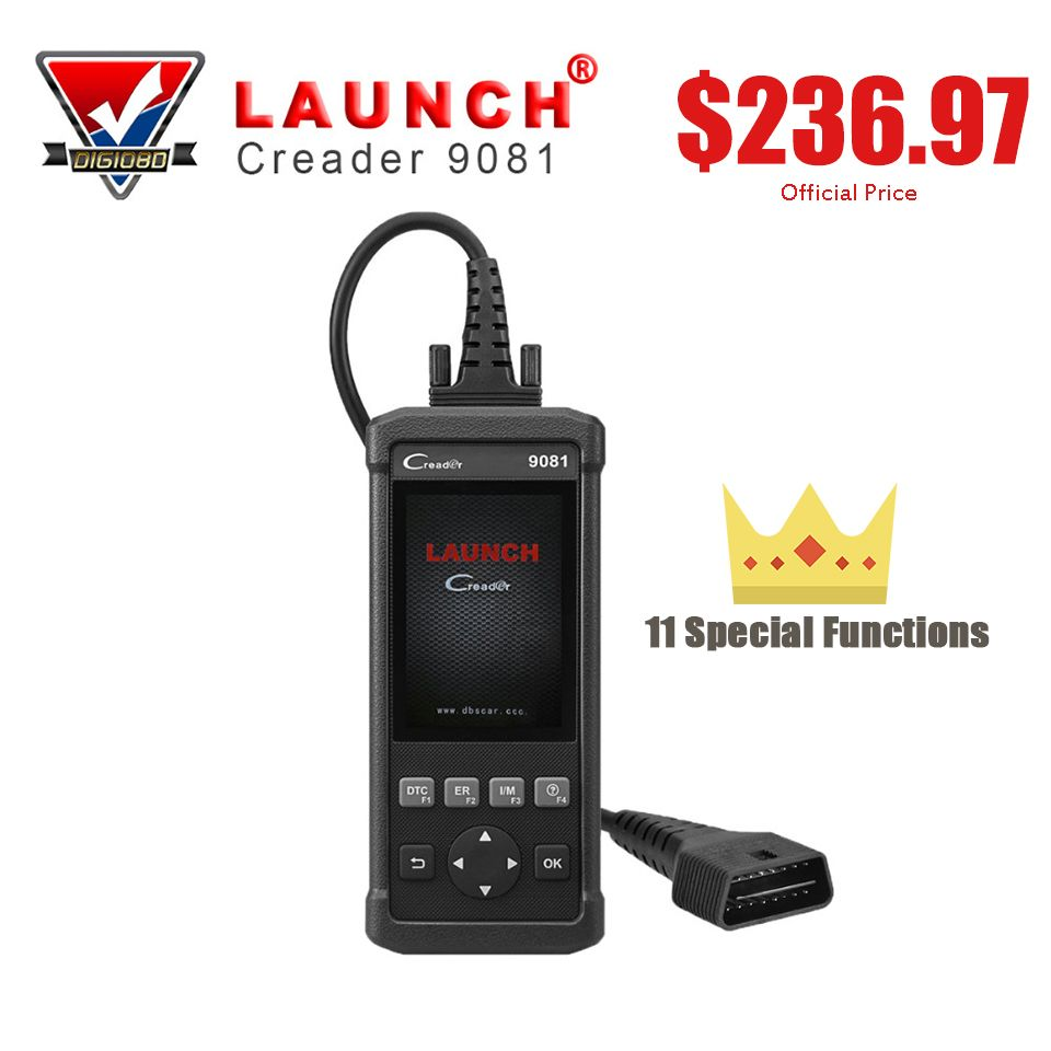 LAUNCH Creader 9081 CR9081 OBD2 Scanner Code Reader Diagnostic Tool ABS Bleeding Oil Reset SAS TPMS DPF BMS Reset Programming