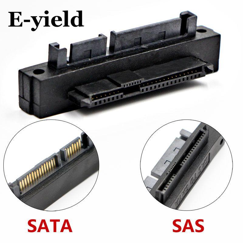 E-ausbeute 90 Grad Right angle SATA 22Pin 7 + 15 Stecker auf SFF-8482 SAS 22 Pin Female Extension Adapter Konverter für Festplatte Dri