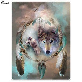 Забавные Одеяла комфорт тепло мягкой круто Волк Ловец снов Одеяла