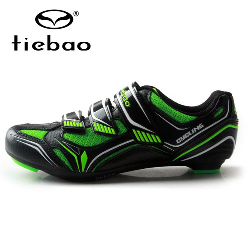 TIEBAO Unisex Breathable Cycling Shoes Self-locking Road Bike Shoes Bicycle Shoes Sapatilha Ciclismo Cycling Shoes SPD Road