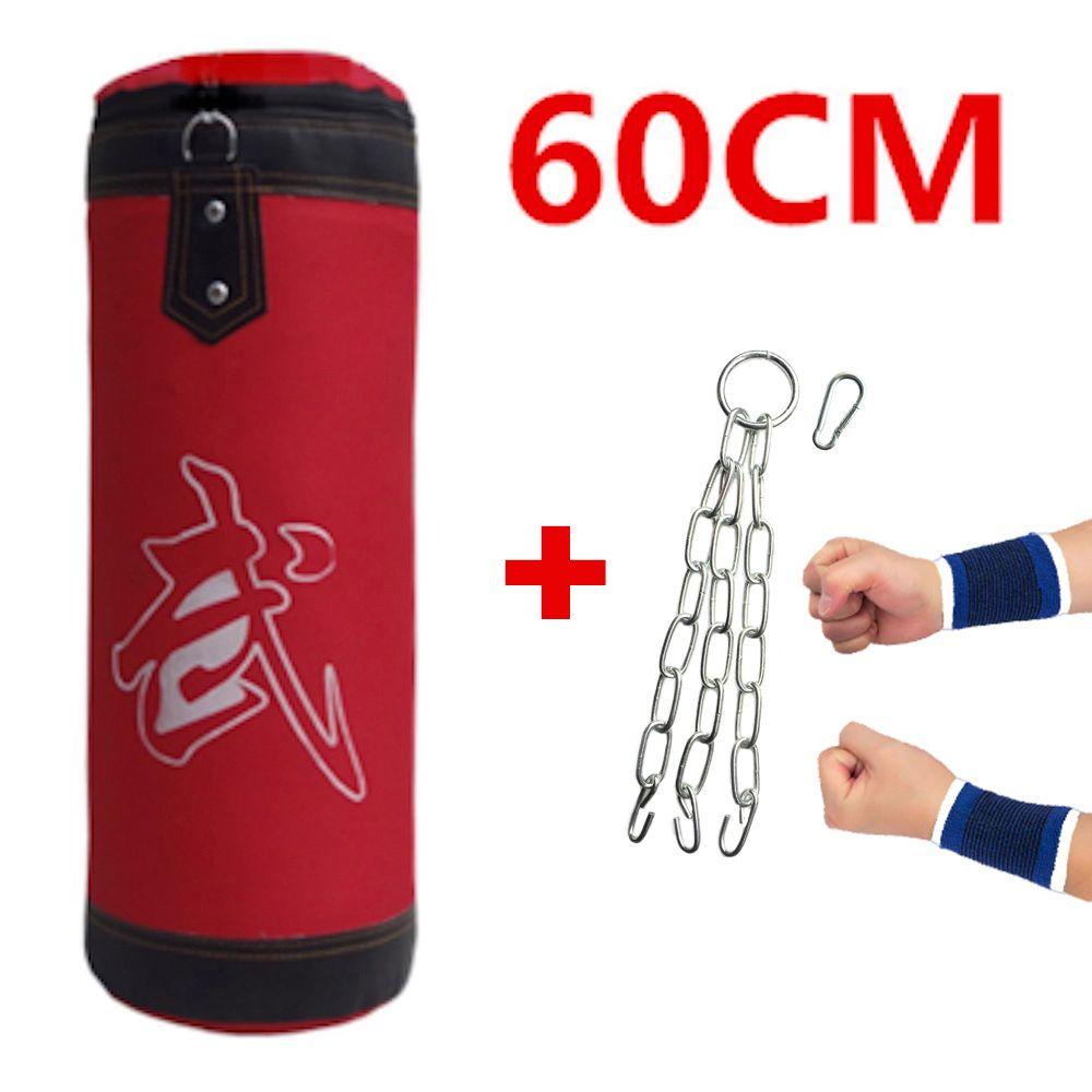 60cm Sandbag Empty Punching Bag Kids Boxing Bag Indoor Sports Earthbags <font><b>Training</b></font> Muai Thai Bagwork