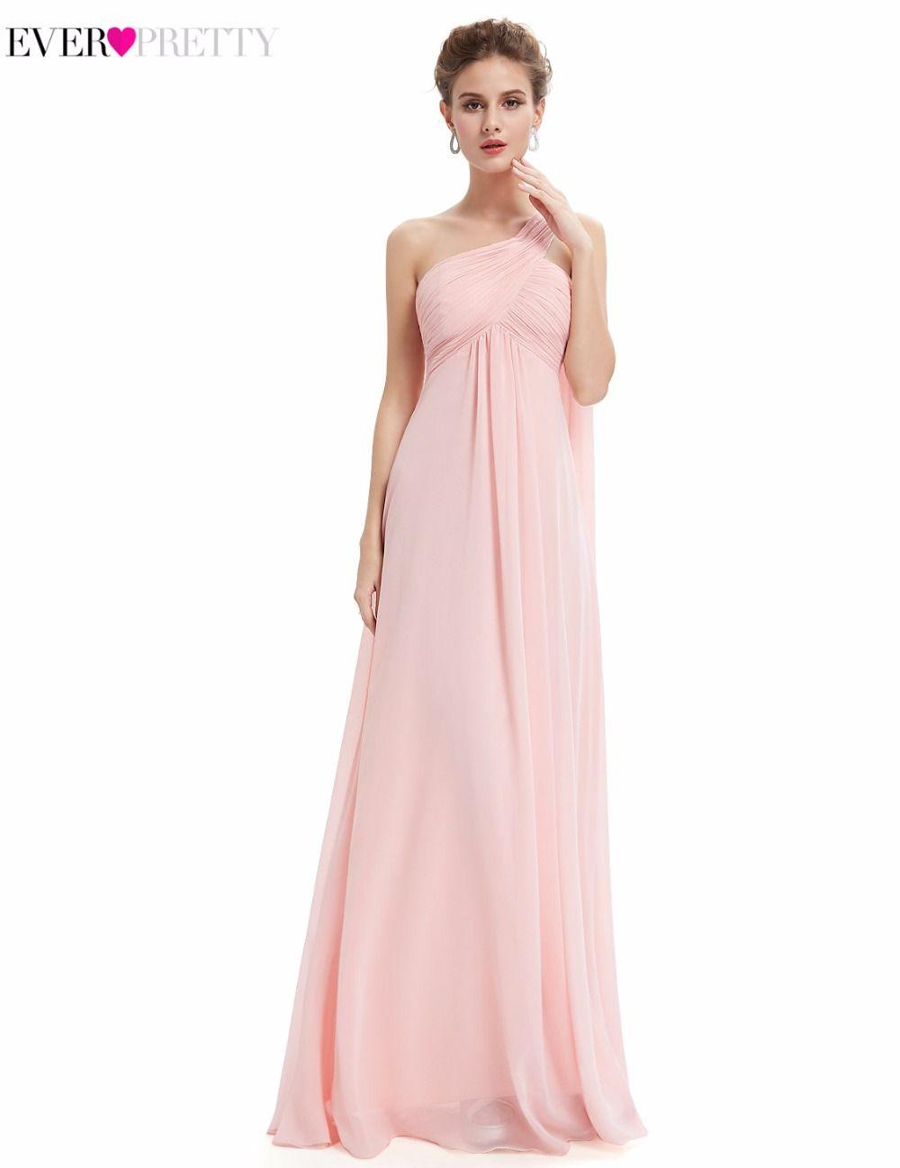 [Venta de liquidación] Largo de Dama de honor Vestidos Siempre Pretty HE09816 A-Line Wedding Guest Vestidos de Bridemaids Un Hombro Vestido de Fiesta
