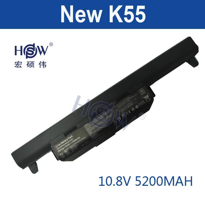 HSW 5200 MAH laptop akku für asus A32 K55 A33-K55 A41-K55 A45 A55 A75 K45 K55 K75 X45 X55 X75 R400 R500 R700 U57 bateria akku