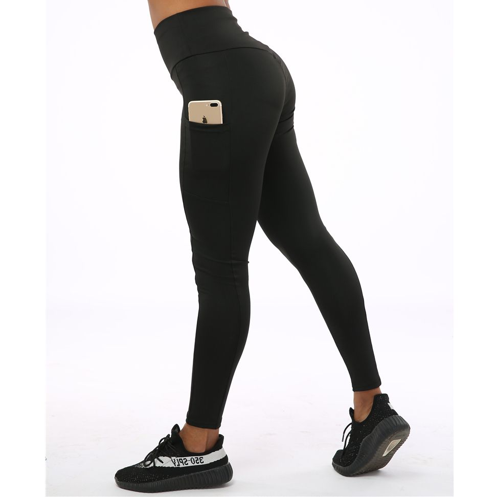 SVOKOR taille haute Polyester Leggings femmes poche Slim Fit cheville-longueur pantalon respirant élasticité Fitness femme Legging