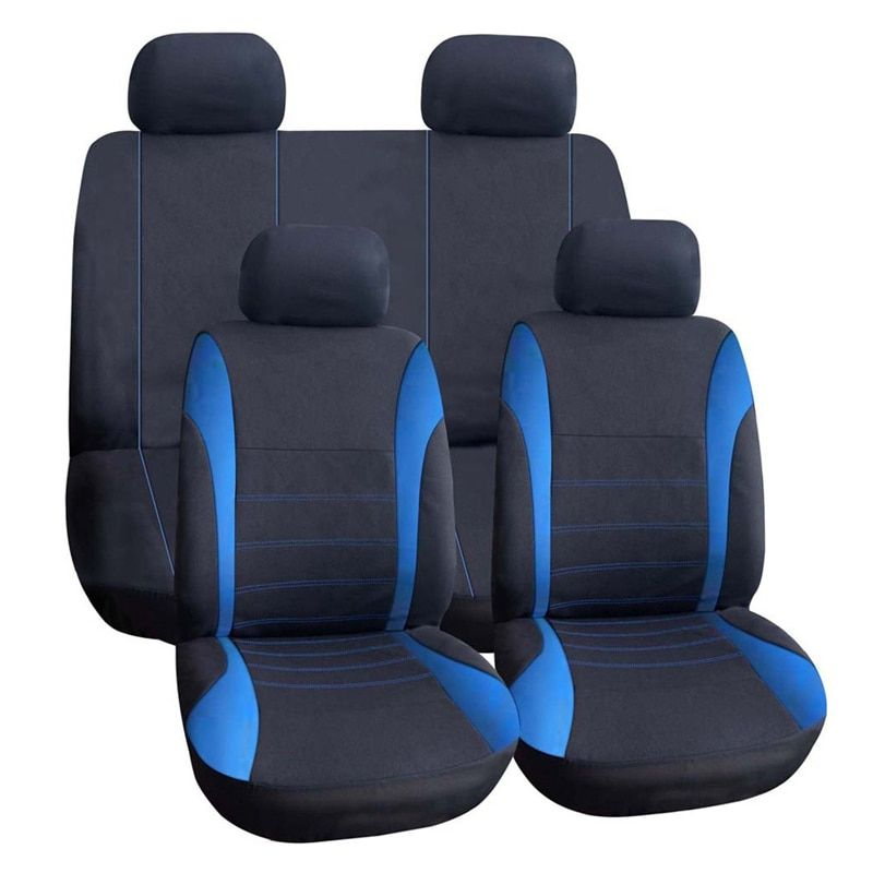 VODOOL 9Pcs/Set Universal Car Seat Cover Polyester Car Front Back Seat Cushion Covers Protector Car Styling Interior Accessories