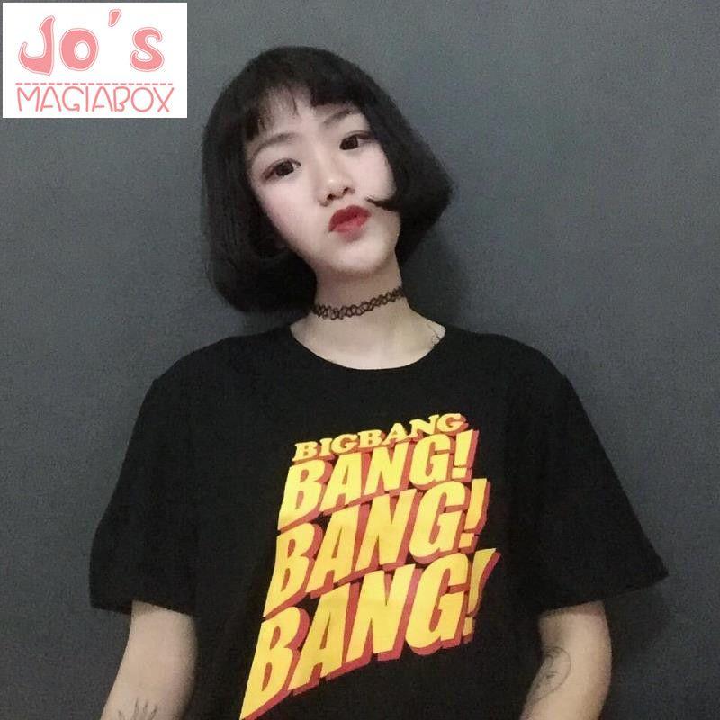 Big Bang 2017 New Blusa Summer Style Korean Ulzzang Kawaii Harajuku T-shirts Women Zipper O-Neck Cute TShirt Tee Top