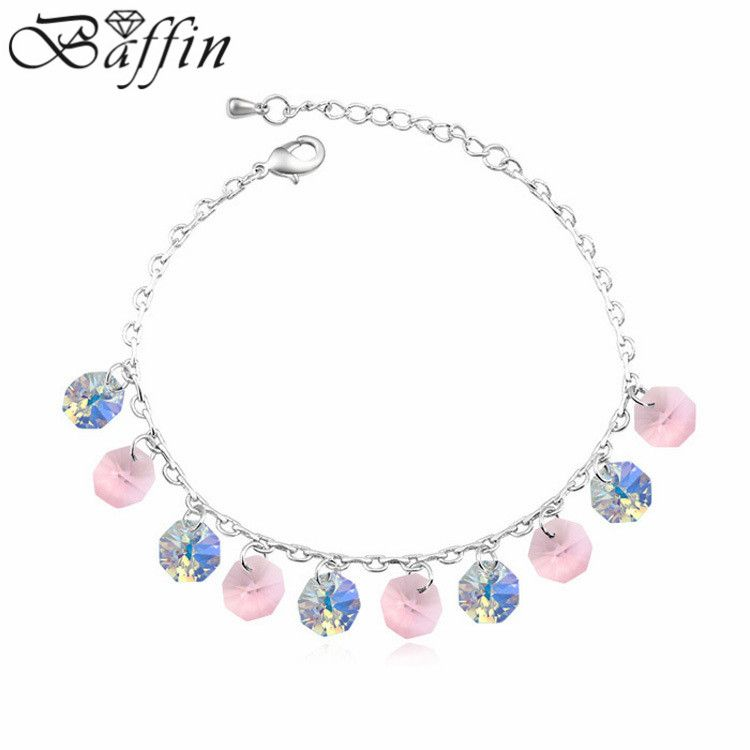 Bohemian Anklet Summer Style Crystal from Swarovski Joyas for women Foot Jewelry