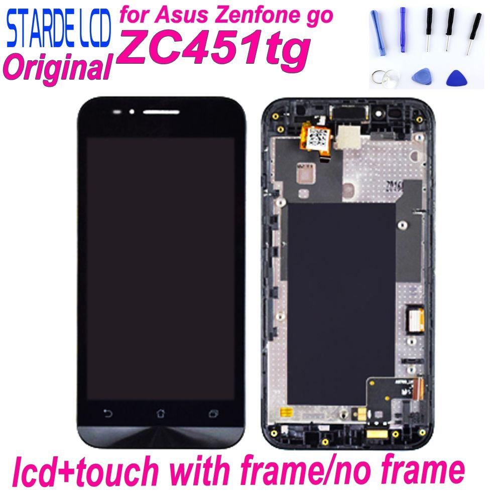 Starde LCD pour Asus Zenfone Go ZC451TG LCD écran tactile numériseur assemblée avec cadre ZC451TG remplacement d'écran