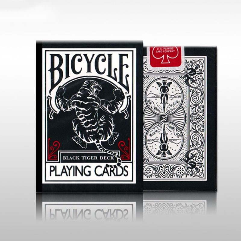 UV500 Bicycle TCC Black Tiger Ellusionist Deck Tigers Red Pips Second Edition Ohio Playing Card Decks Magic Tricks Poker Cards