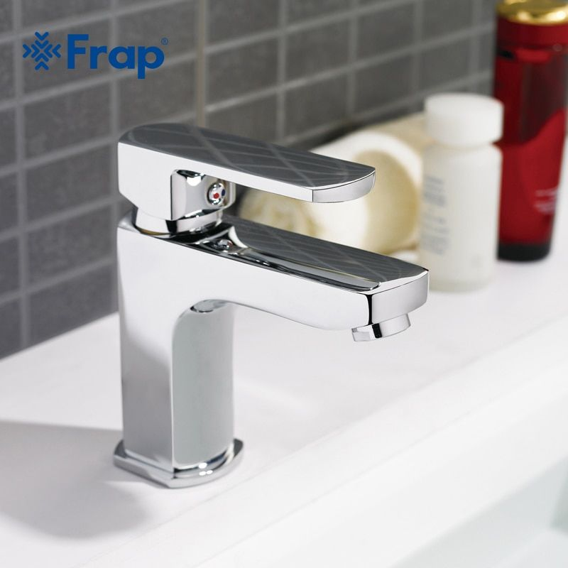 Frap 1 set Brass Body <font><b>Bathroom</b></font> Basin Faucet Vessel Sink Water Tap bath sink cold and hot Mixer taps faucets Chrome Finish F1064