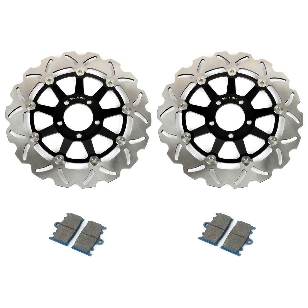 BIKINGBOY Bremsscheiben Vorne Scheiben Rotoren Bremsbeläge für Kawasaki ZXR 400 89 90 ZZR 400 600 90 91 92 -99 ZX-6R GPZ 900 R 95 96