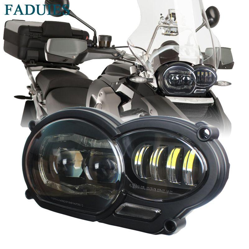 FADUIES Motorrad LED Scheinwerfer für BMW R1200GS R1200 GS adv R1200GS LC 2004-2012 (fit öl kühler)