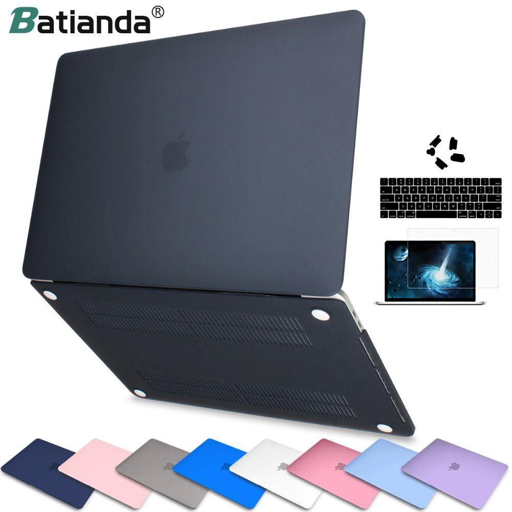 Mallette pour ordinateur portable pour apple Macbook Air Pro Retina 11 12 13 15 Fini Mat Couverture pour macbook Nouvelle Air Pro tactile Bar ID Clavier Couverture