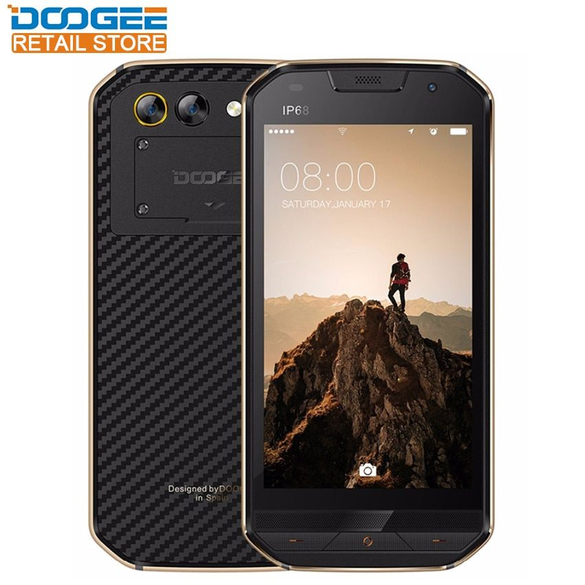 DOOGEE S30 IP68 Smartphone <font><b>side</b></font> fingerprint Dual camera 5.0 HD Android 7.0 MTK6737 Quad Core 2GB 16GB 5580mAh 4G Cellphone