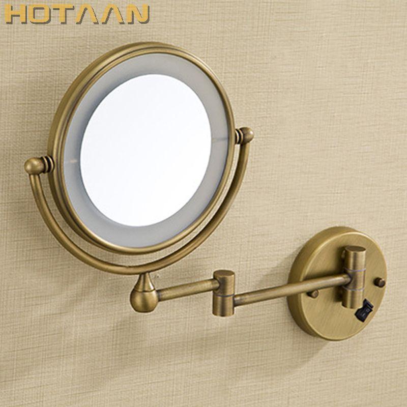Antique brass LED light makeup mirrors 8