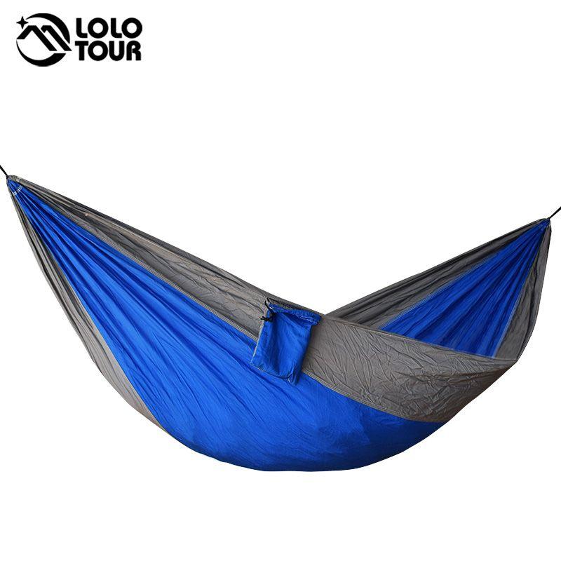 Portable one person parachute Hammock Swing indoor outdoor Leisure Camping hang Bed Garden hamak Sleeping hamac hamaca 230*90cm