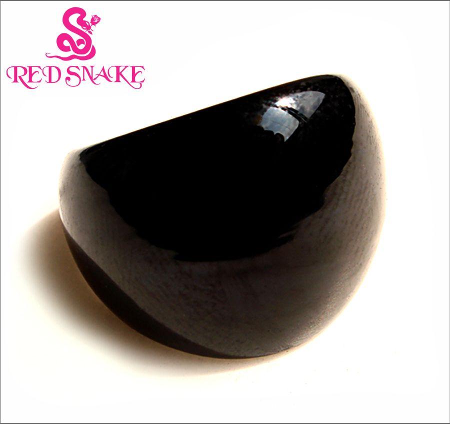Serpent rouge livraison gratuite anneau de mode fait à la main classique noir anneaux en verre de Murano