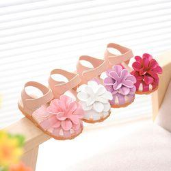 Venta caliente niños zapatos 2016 verano nuevo muchachas de la princesa flor zapatos de bebé puntera Niño que cubre las sandalias tamaño 21 -30