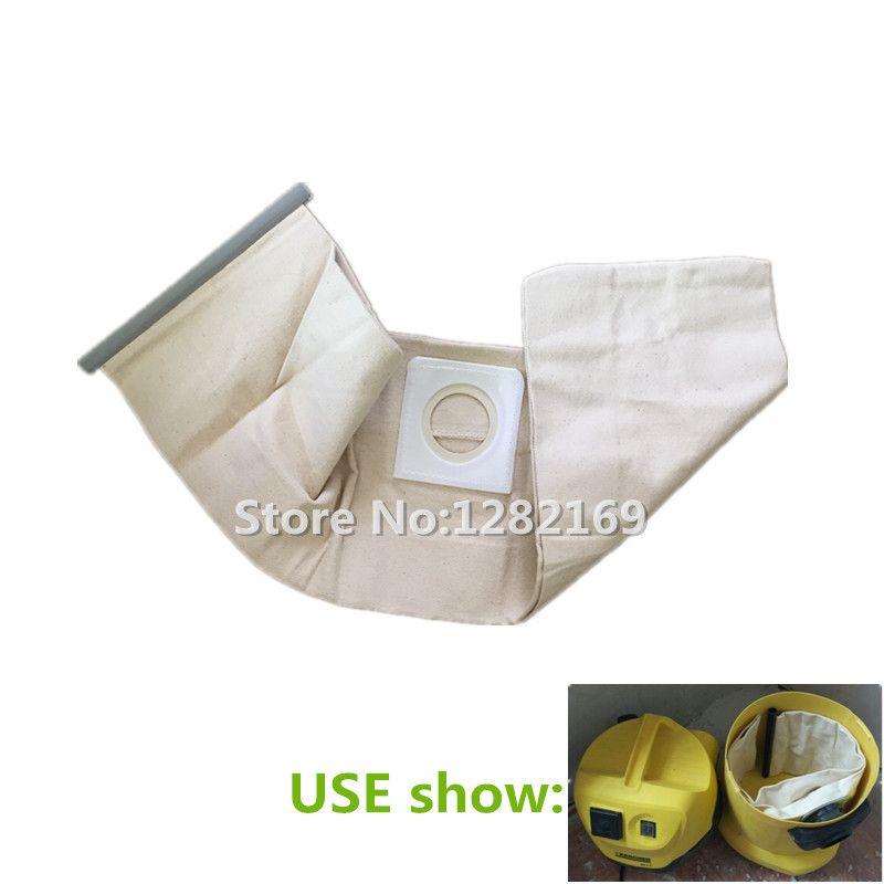 1 piece Vacuum Cleaner Cloth Bag Dust Filter Bag replacement for Karcher WD3.200 WD3.300 SE4001 MV1 MV3 A2204 A2656