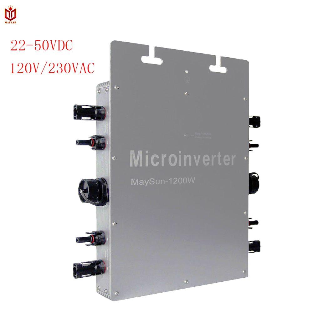 MAYLAR @ Maysun1200W Solar Grid Tie Micro Inverter Mit 4 MPPT Funktion Ausgang Reine Sinus Welle Solar Konverter 100V-240Vac