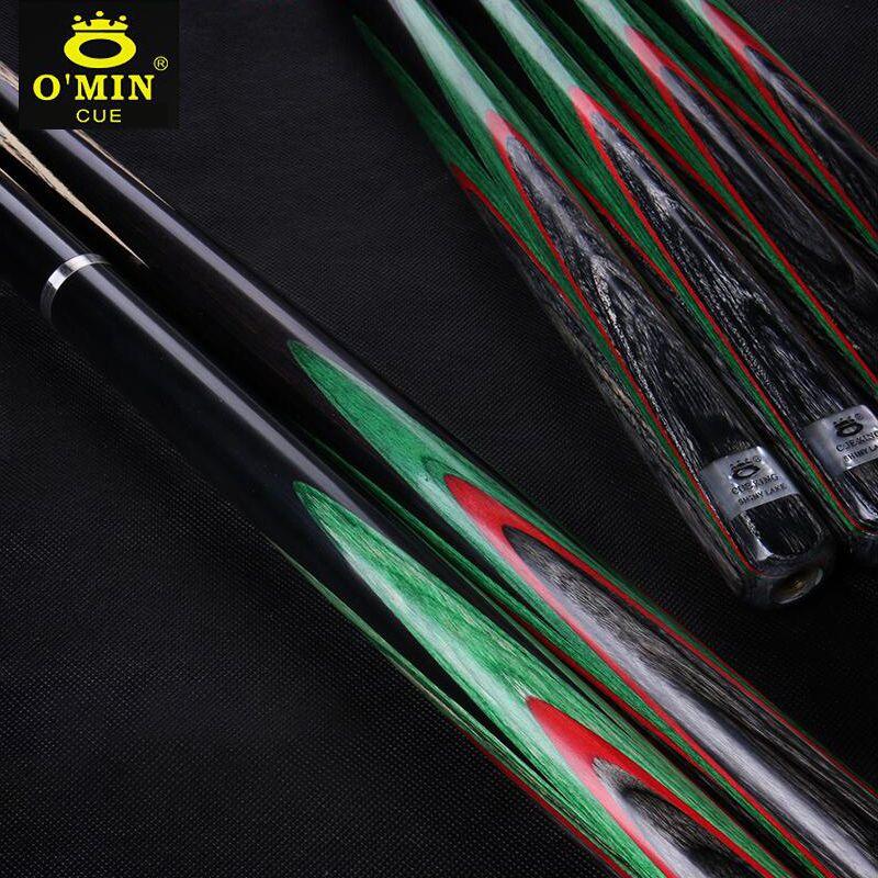 O'MIN Alle Handmade Ein Stück Snooker Queue 3/4 Stück Snooker Kit mit Fall mit Verlängerung 10mm Spitze Snooker Stick 2018 neue Ankunft