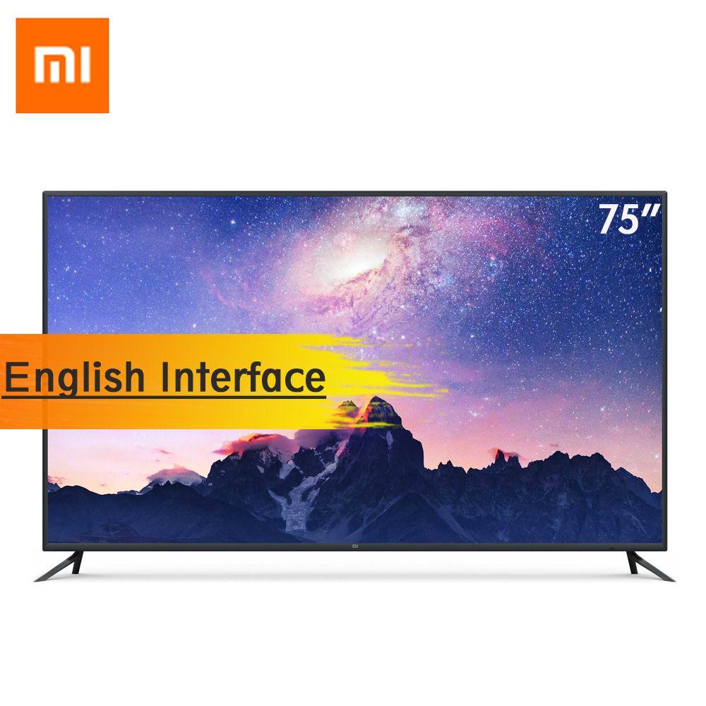 Xiaomi Smart TV 4 75 Zoll Drahtlose Ultra-dünne AI Intelligenz Stimme Fernsehen Englisch Interface 4 K HDR 2 GB + 32 GB RAM Dolby + DTS